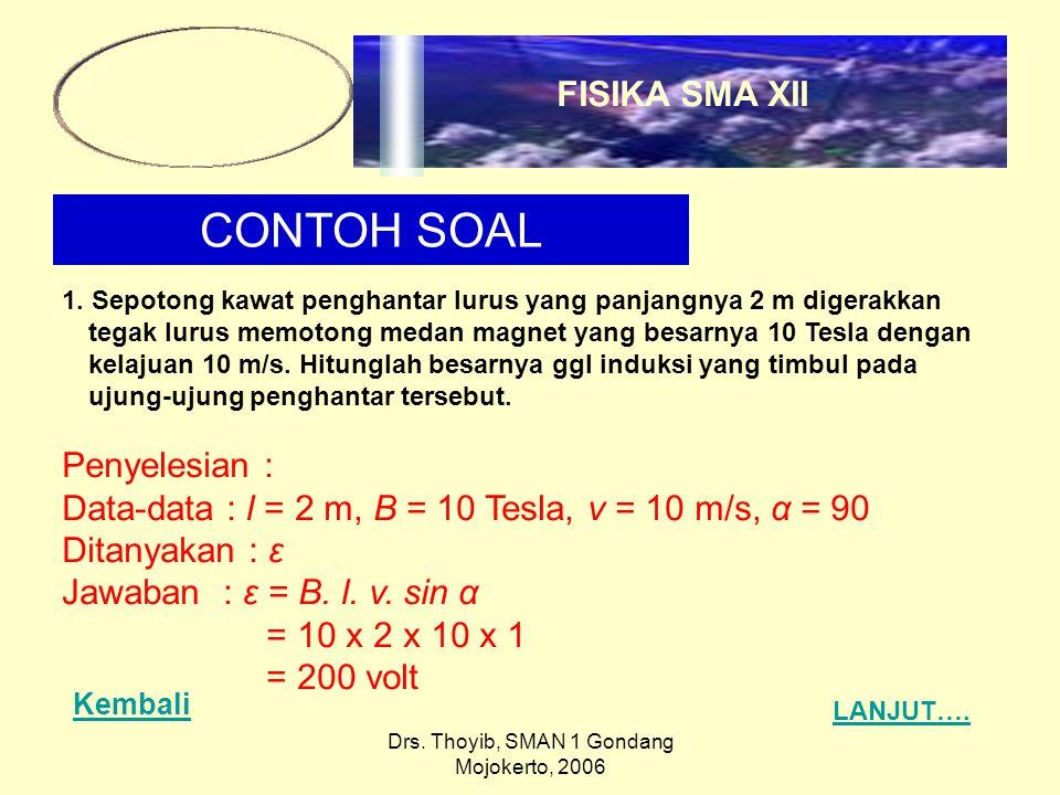 Drs. Thoyib, SMAN 1 Gondang Mojokerto, 2006 CONTOH SOAL 1.