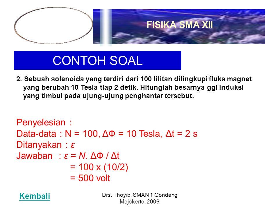 Drs. Thoyib, SMAN 1 Gondang Mojokerto, 2006 CONTOH SOAL 2.