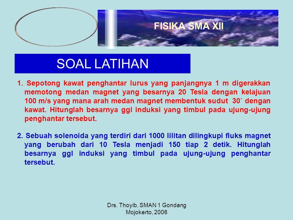 Drs. Thoyib, SMAN 1 Gondang Mojokerto, 2006 SOAL LATIHAN 1.