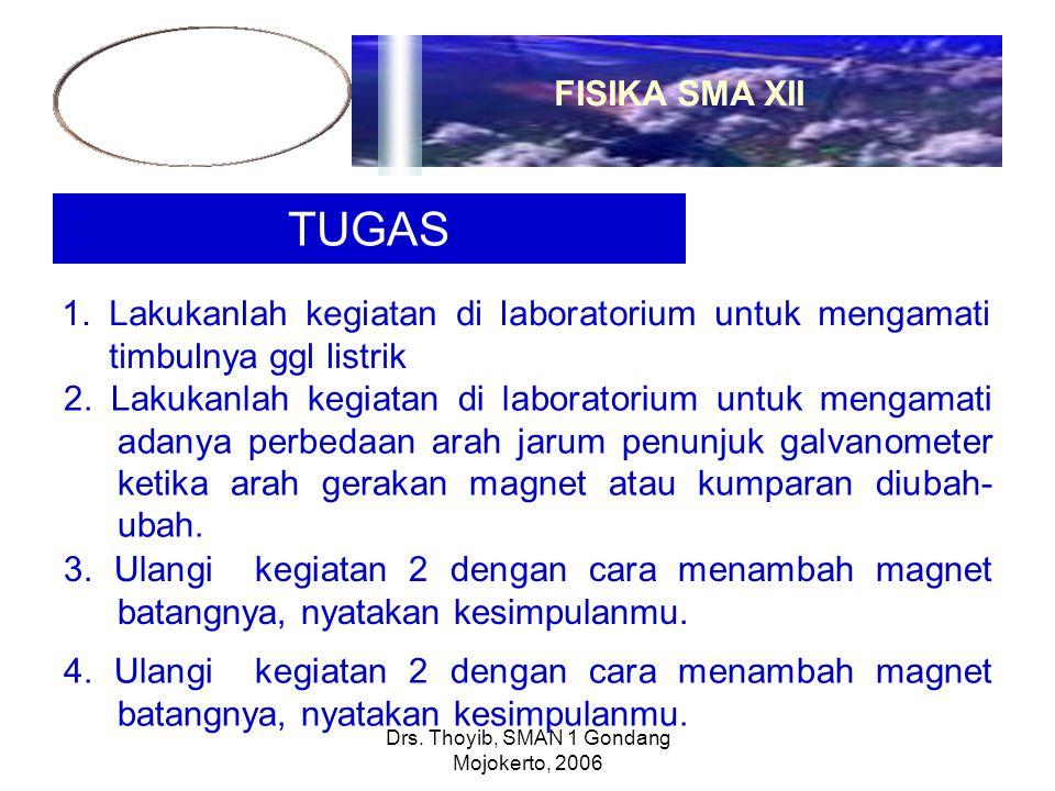 Drs. Thoyib, SMAN 1 Gondang Mojokerto, 2006 TUGAS 1.