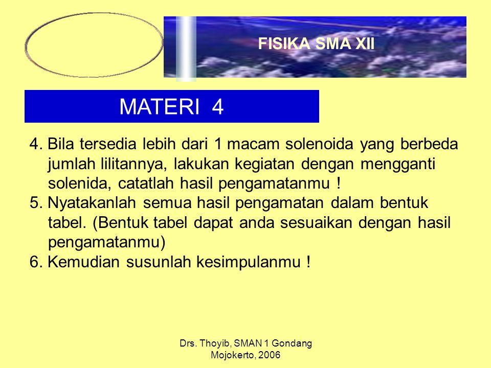Drs. Thoyib, SMAN 1 Gondang Mojokerto, 2006 MATERI 4 4.
