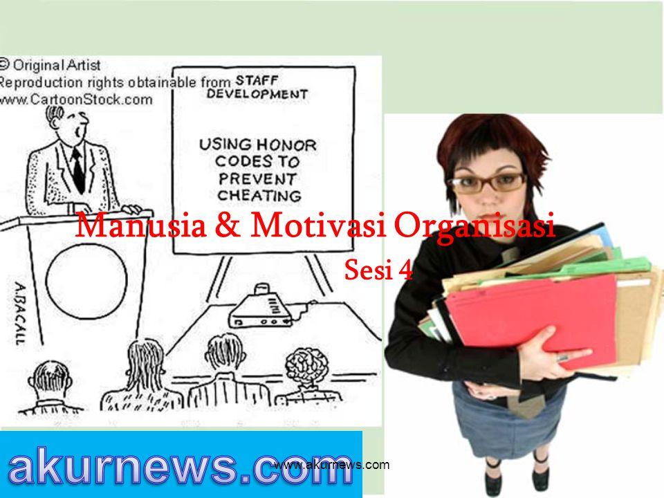 Manusia & Motivasi Organisasi Sesi 4 www.akurnews.com