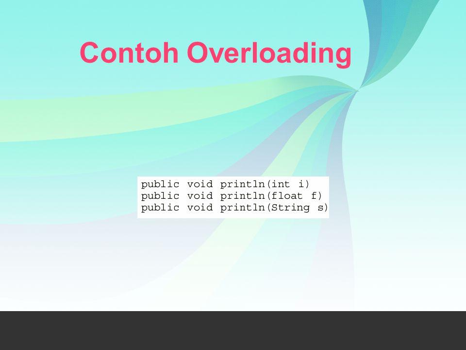Contoh Overloading