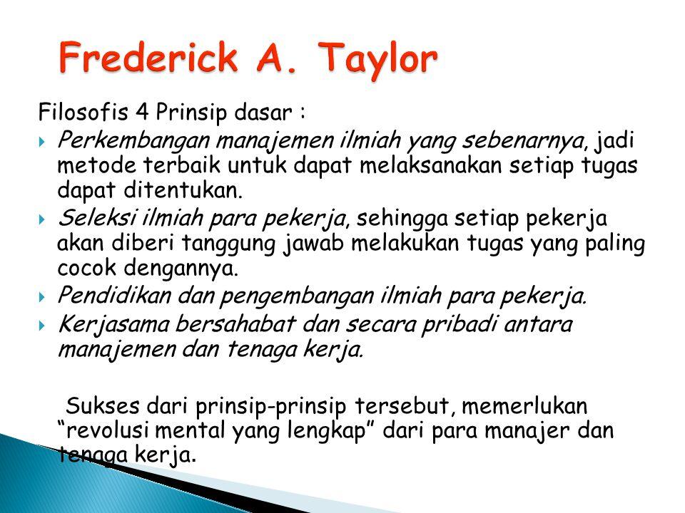 Mempertimbangkan sistem insentif dari Taylor.