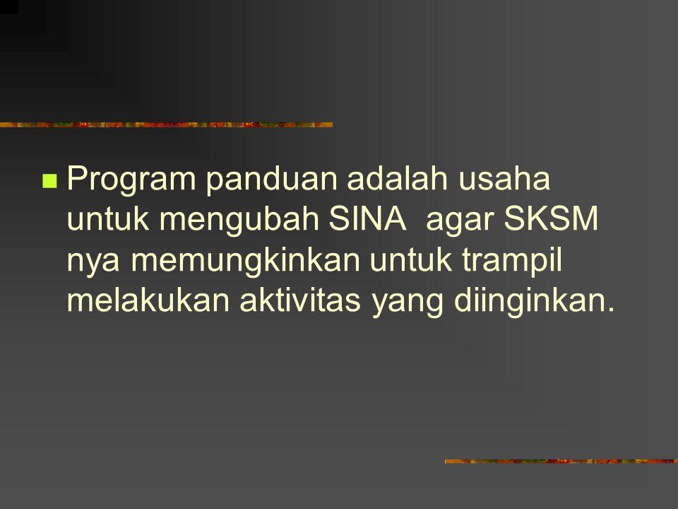MATERI PROGRAM PANDUAN Setiap program panduan minimal mengandung materi : PENGALAMAN TERKENDALI DISKUSI KELOMPOK CERAMAH SINGKAT INTERAKSI INTENSIF PEMANDU DAN PESERTA
