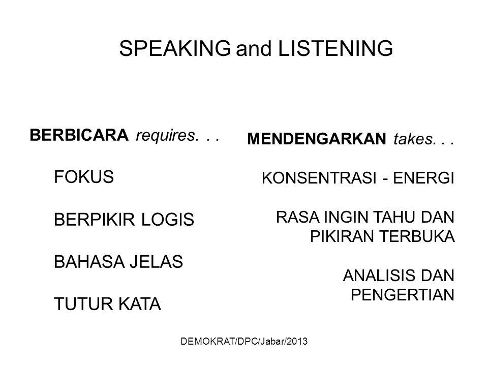 DEMOKRAT/DPC/Jabar/2013 BERBICARA requires...