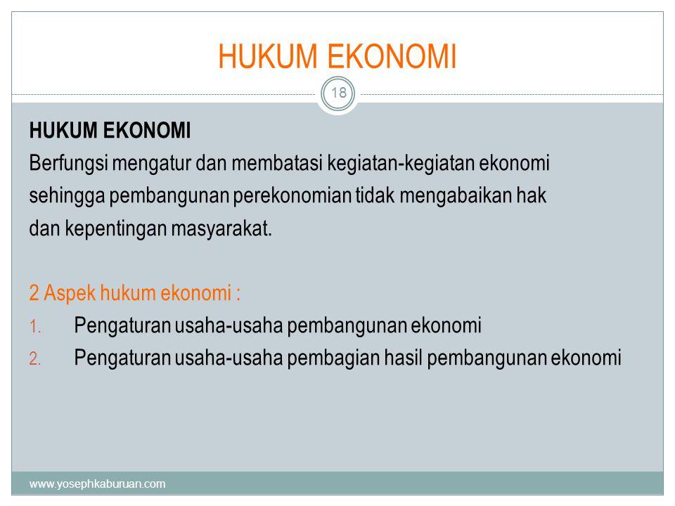 KUISIONER 19 1.Apakah peranan hukum di dalam ekonomi.