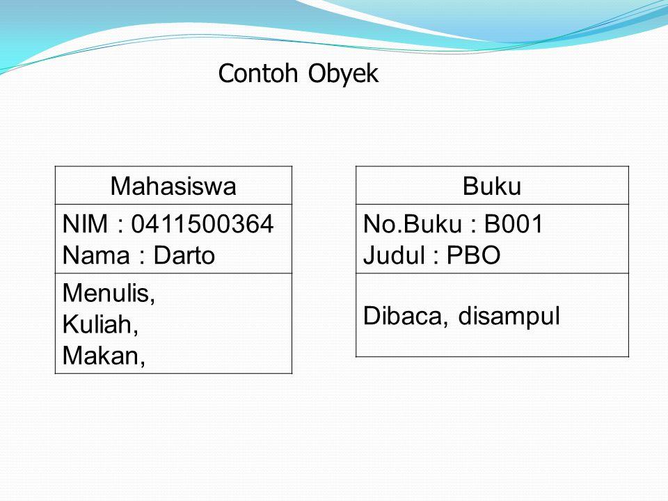 Contoh hubungan Antara Kelas dan Obyek Person BudiLusiSri Object = an instance of