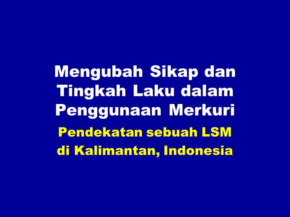 Mengubah Sikap dan Tingkah Laku dalam Penggunaan Merkuri Pendekatan sebuah LSM di Kalimantan, Indonesia