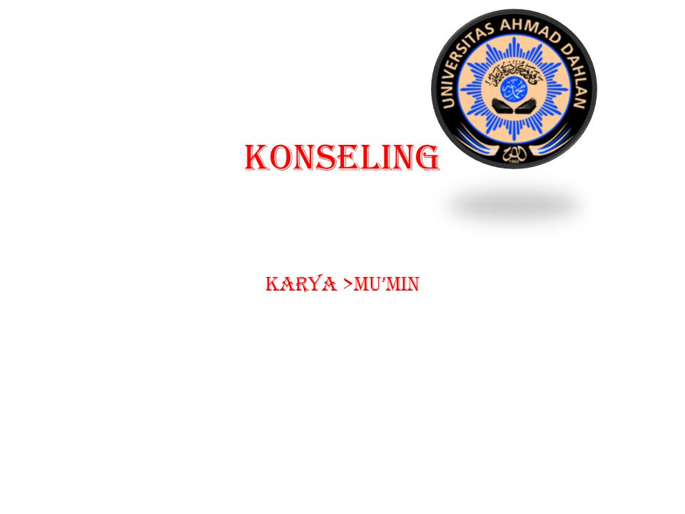 KONSELING KARYA >MU'MIN