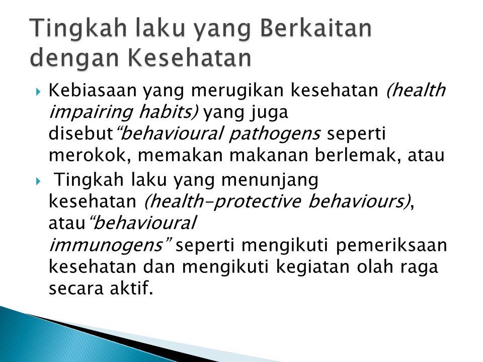  Penyebab karena Bio (virus, bakteri, luka)  Psiko (tingkah laku, belief, coping, stress, pain)  Sosial (kelas sosial, ethnis, pekerjaan).