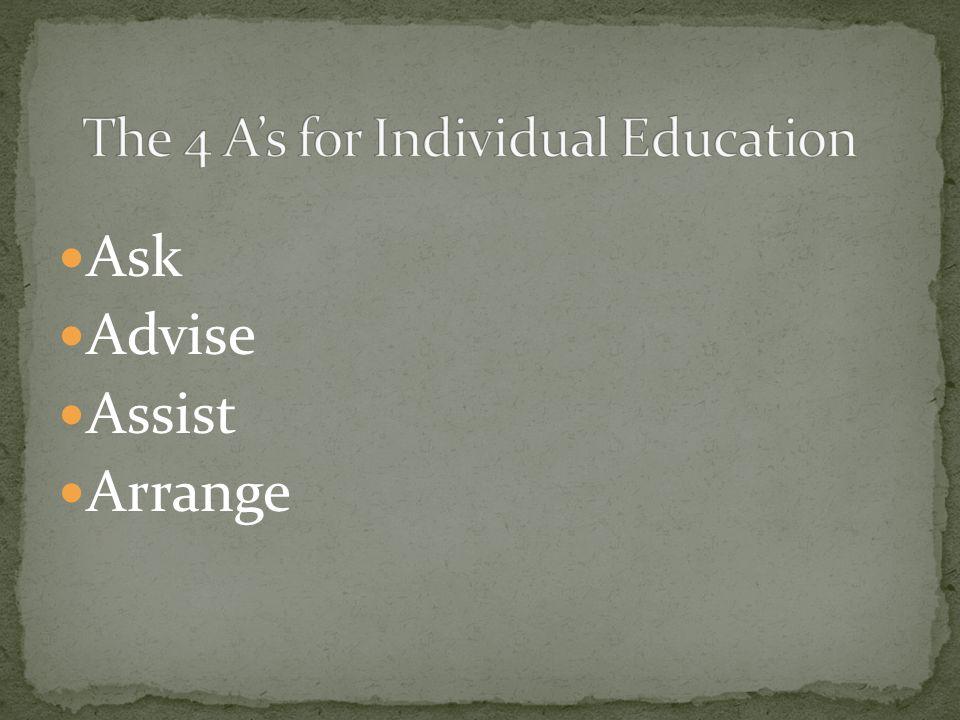 Ask Advise Assist Arrange