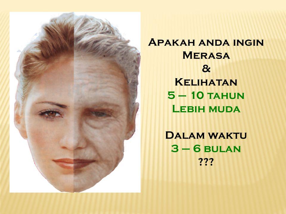 Apakah anda ingin Merasa & Kelihatan 5 – 10 tahun Lebih muda Dalam waktu 3 – 6 bulan ???