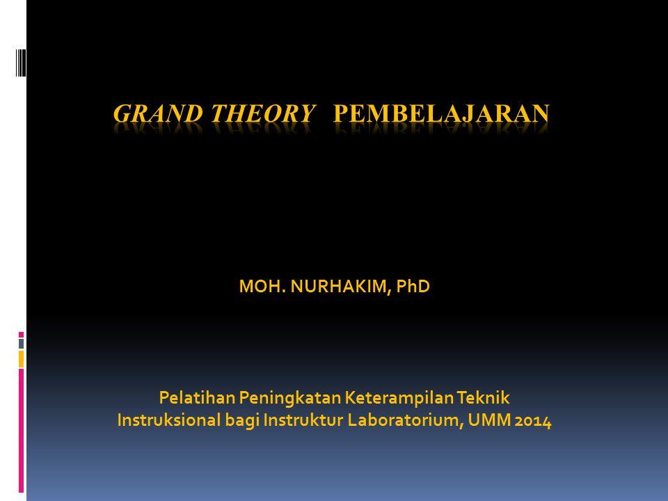MOH. NURHAKIM, PhD Pelatihan Peningkatan Keterampilan Teknik Instruksional bagi Instruktur Laboratorium, UMM 2014
