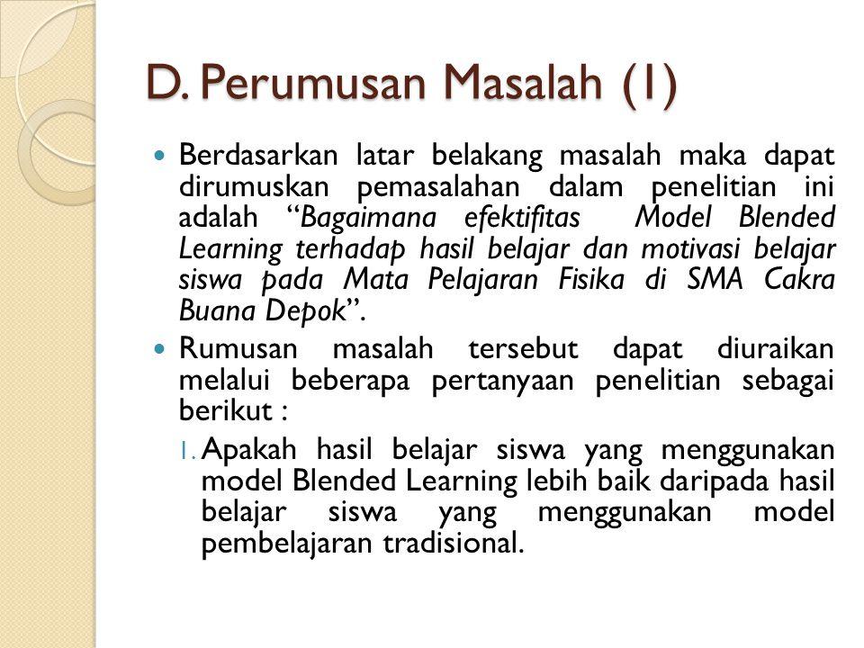 Perumusan Masalah (2) 2.