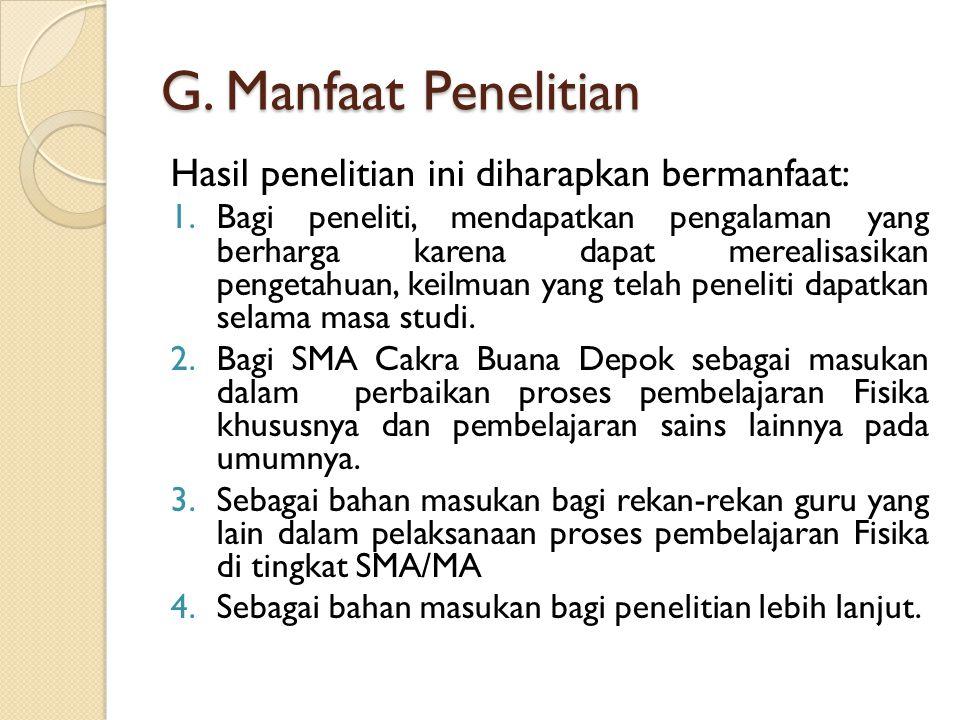 H.Metodologi Penelitian 1.