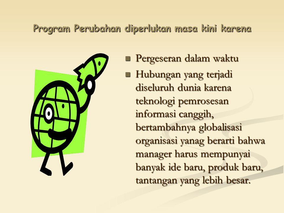 Program Perubahan diperlukan masa kini karena Pergeseran dalam waktu Hubungan yang terjadi diseluruh dunia karena teknologi pemrosesan informasi cangg