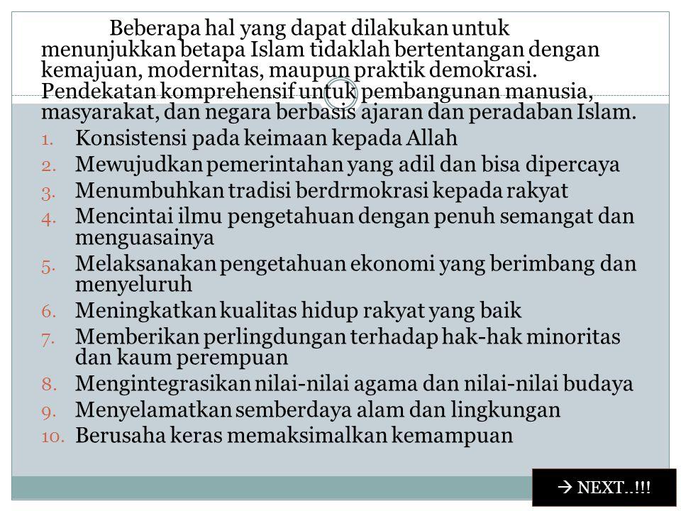 PERAN UMAT ISLAM INDONESIA Mengingatkan keragaman keadaan umat, maka Muslim Indonesia yang berkepedulian sepatutnya menangani dua tugas sekaligus. Per