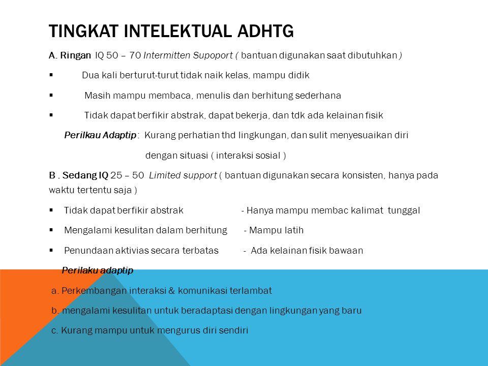 TINGKAT INTELEKTUAL ADHTG A.