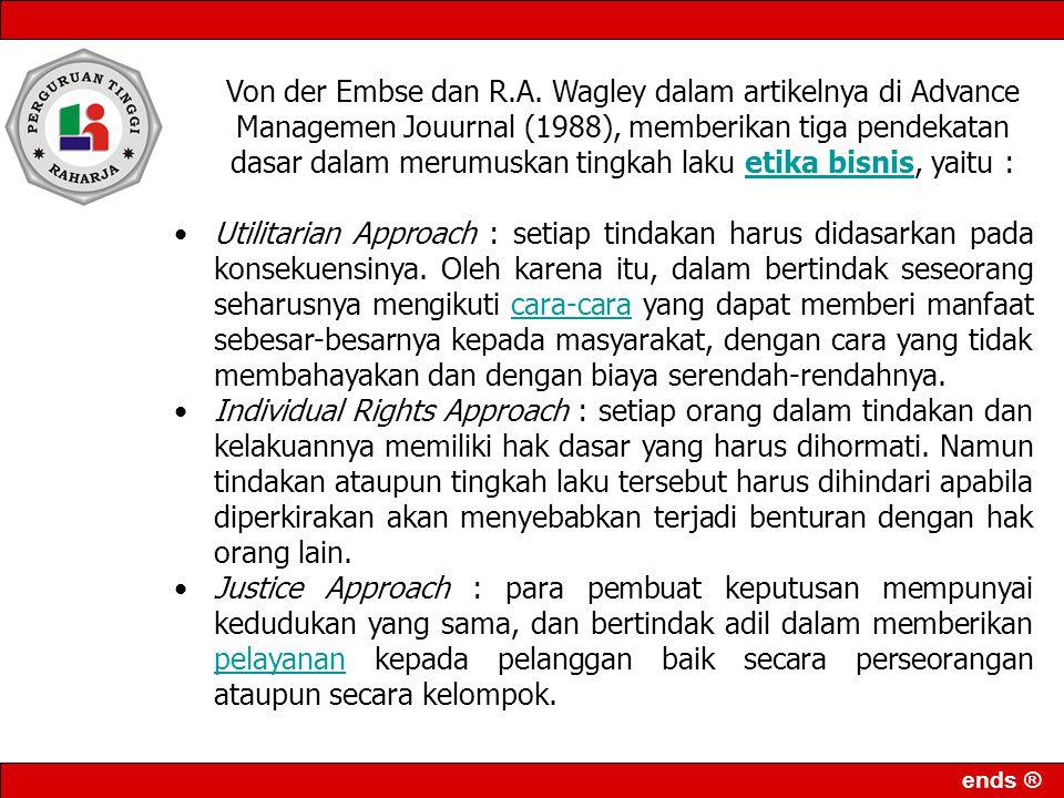 ends ® Von der Embse dan R.A.