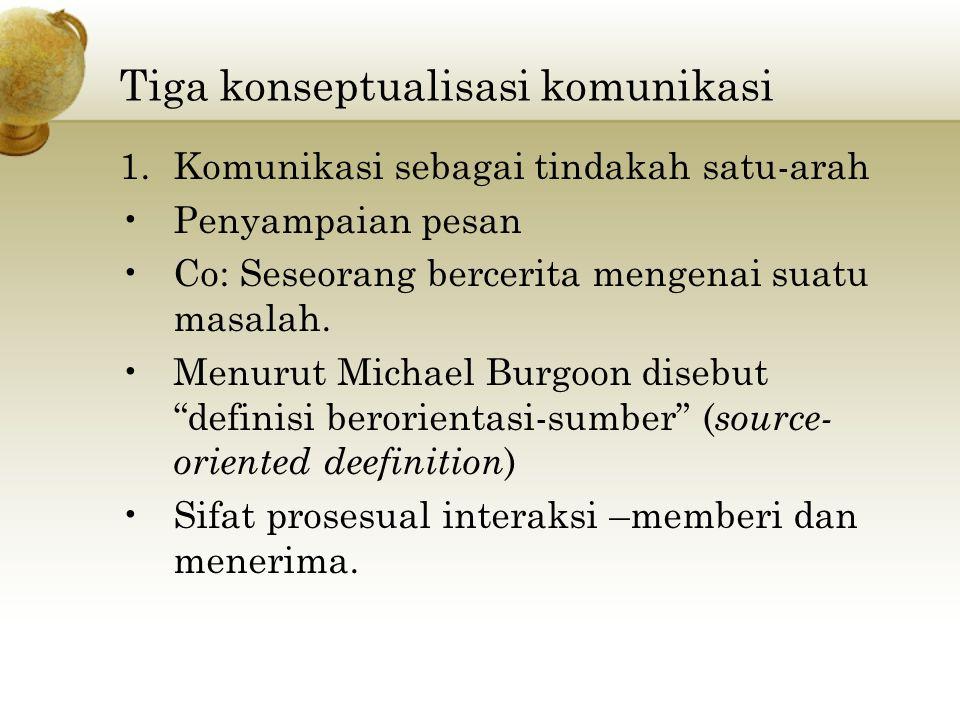 2) Komunikasi sebagai interaksi Dalam arti sempit berarti saling mempengaruhi ( mutual-influence ).