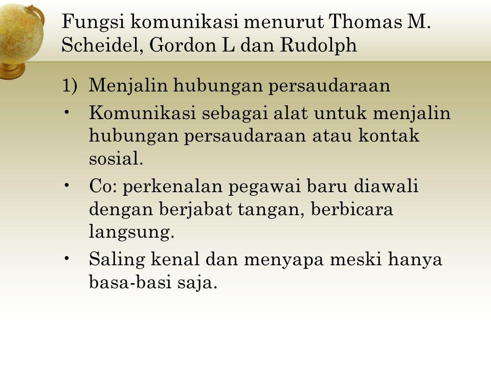 Fungsi komunikasi menurut Thomas M.