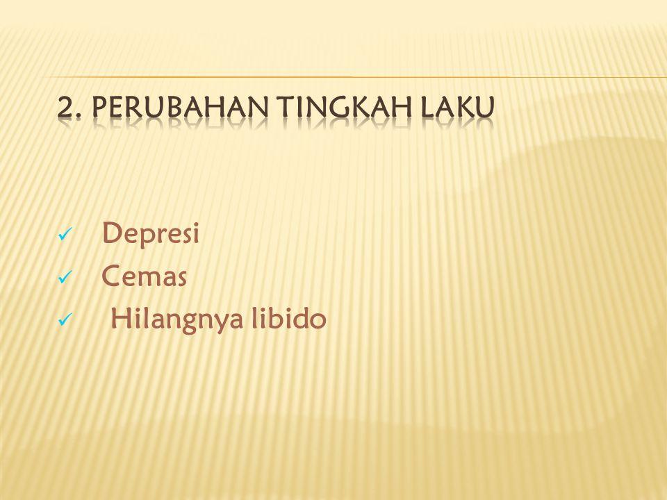 Depresi Cemas Hilangnya libido