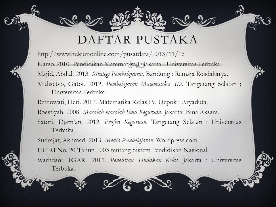 DAFTAR PUSTAKA http://www.hukumonline.com/pusatdata/2013/11/16 Karso.