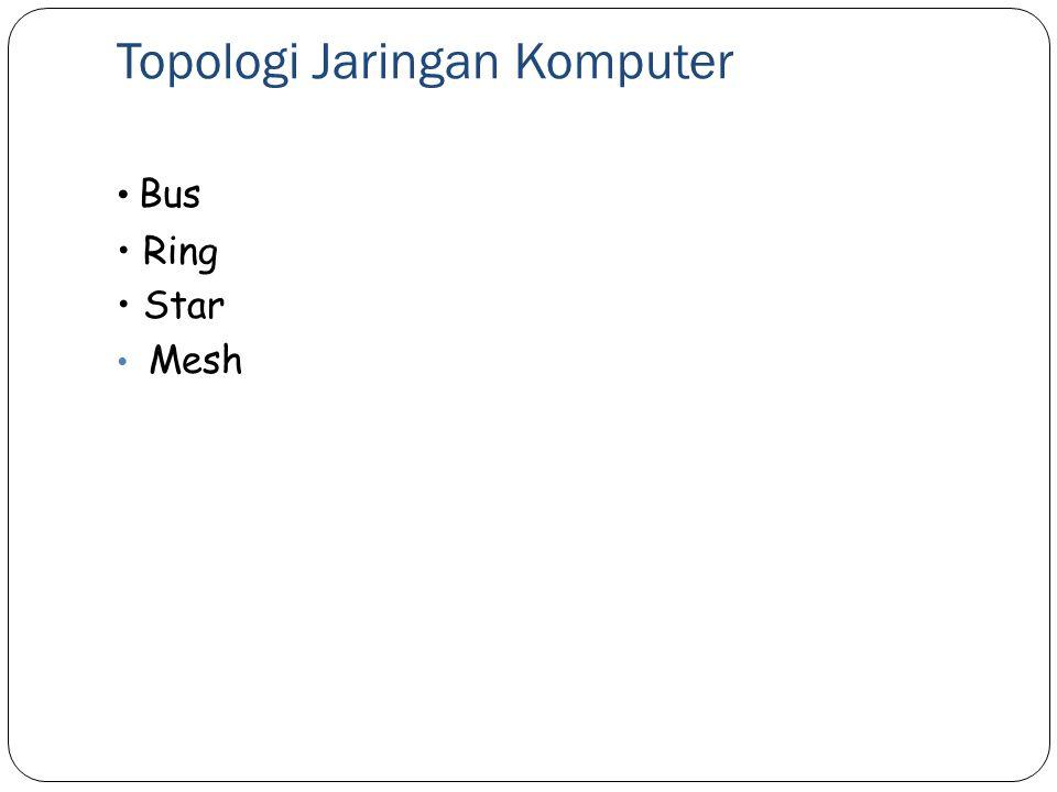 Topologi Jaringan Komputer Bus Ring Star Mesh