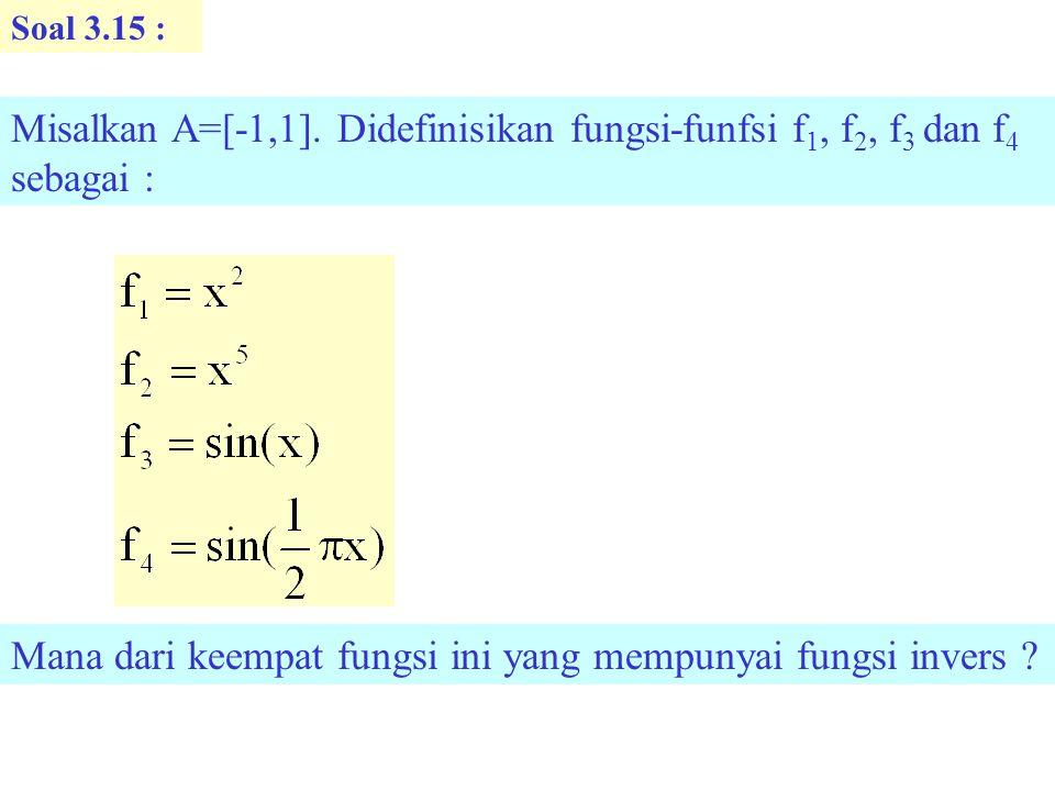 Soal 3.15 : Misalkan A=[-1,1].