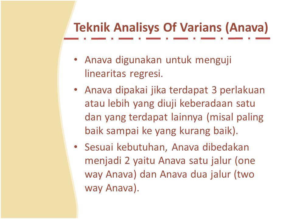 Prosedur Analisis Kovarians Satu Jalur c.Kriteria pengujian hipotesis Tolak H 0 jika: pada suatu taraf signifikansi α Contoh dan soal-soal latihan ada pada halaman 197- 199 (buku STATISTIK PENDIDIKAN Drs.Subana, M.Pd.