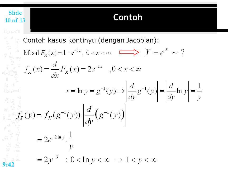 Slide 10 of 139:42 Contoh Contoh kasus kontinyu (dengan Jacobian):
