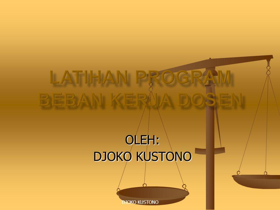 DJOKO KUSTONO OLEH: