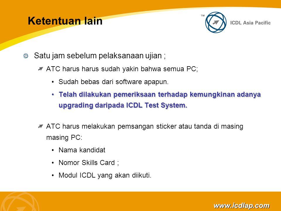 Penyelenggaraan Test ICDL