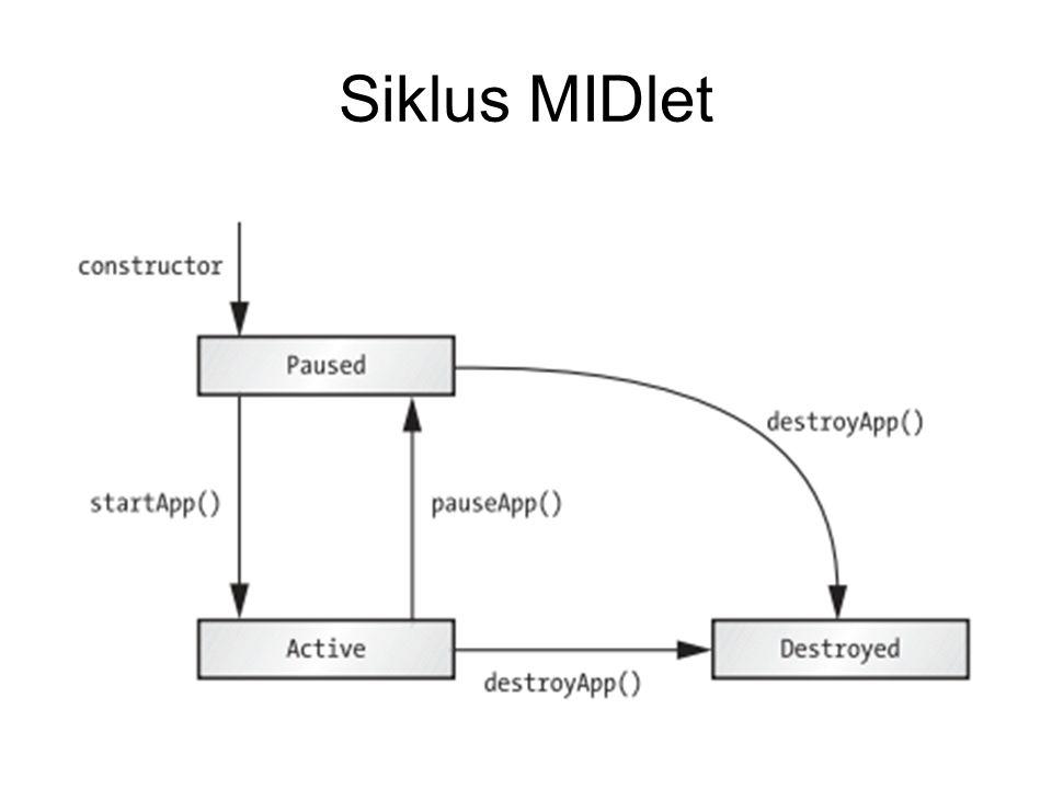 Siklus MIDlet