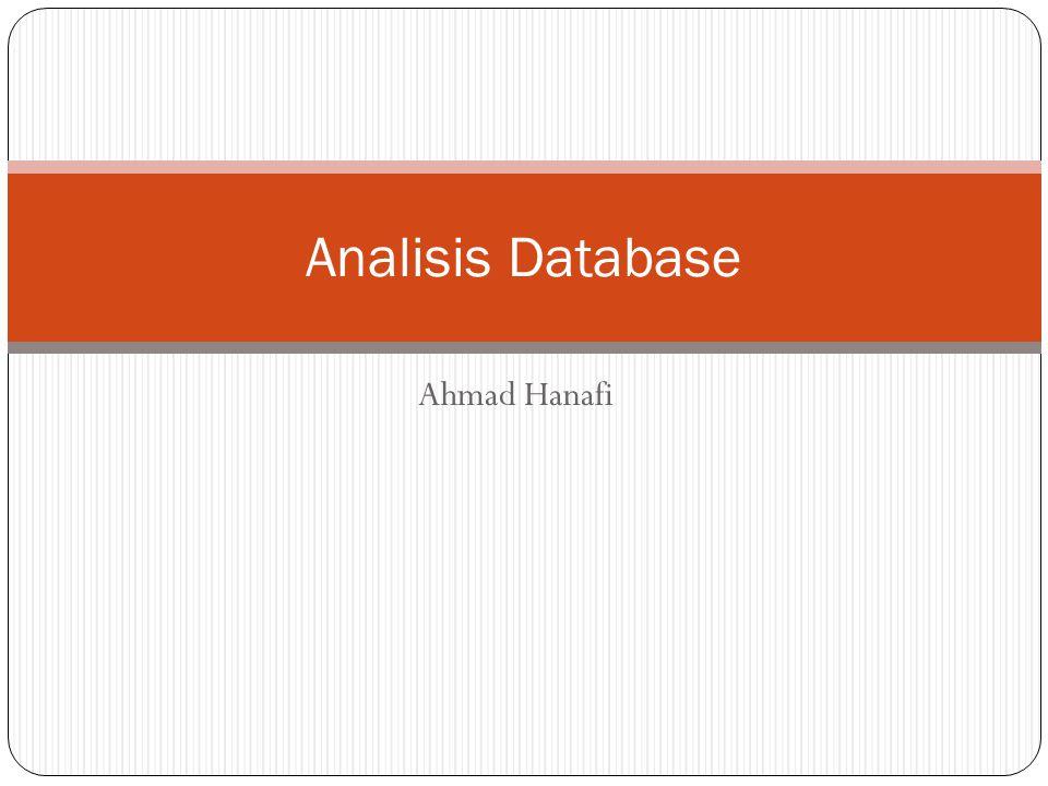 Ahmad Hanafi Analisis Database