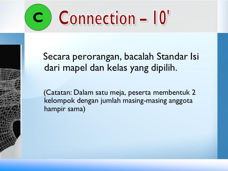 Kegiatan 1 : Pemetaan Kompetensi (45') 1.