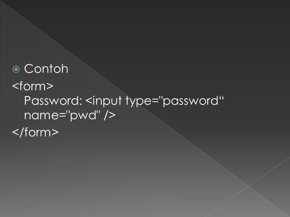  Contoh Password: