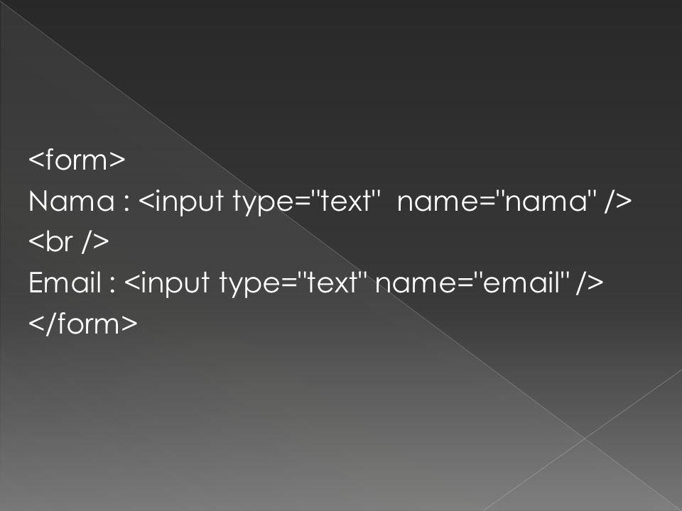 Nama : Email :