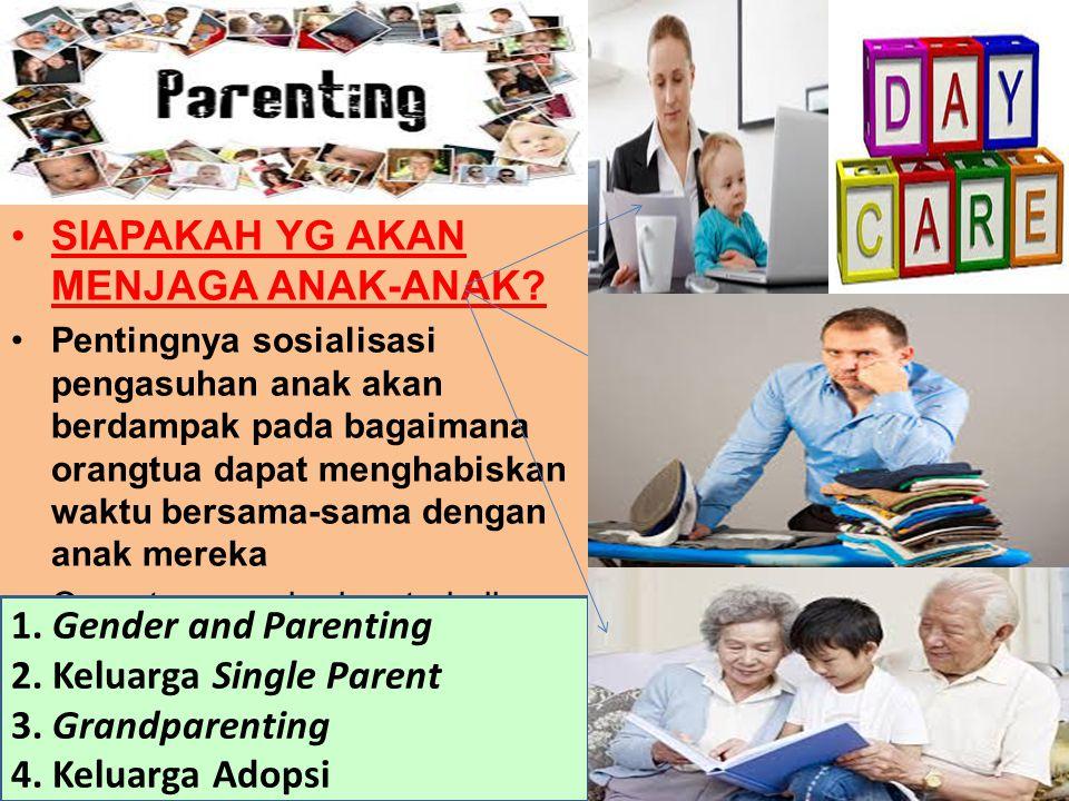 SIAPAKAH YG AKAN MENJAGA ANAK-ANAK? Pentingnya sosialisasi pengasuhan anak akan berdampak pada bagaimana orangtua dapat menghabiskan waktu bersama-sam