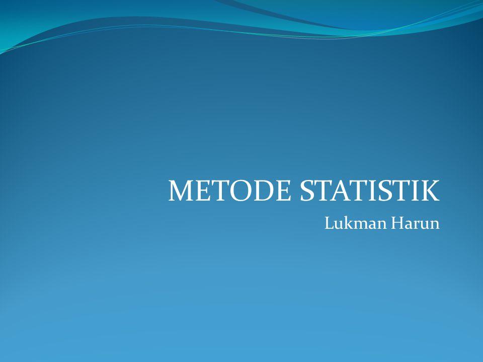 Jawab: Diket:µ = 800 = 792 n = 50 s = 55 α = 0,05 = 5% 1.Ho : µ = 800 (Kualitas lampu belum berubah) H1 : µ ≠ 800 (Kualitas lampu sudah berubah) 2.α=5% = 0,05 3.Statistik Uji: 4.Komputasi: 5.Daerah Kritik: t 1- α/2;n-1 = t 1-0,05/2;50-1 = t 1-0,025;49 = t 0,975;49 = 2,01 DK = { t 2,01 } t = -1,029 / DK