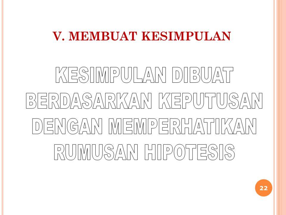 V. MEMBUAT KESIMPULAN 22