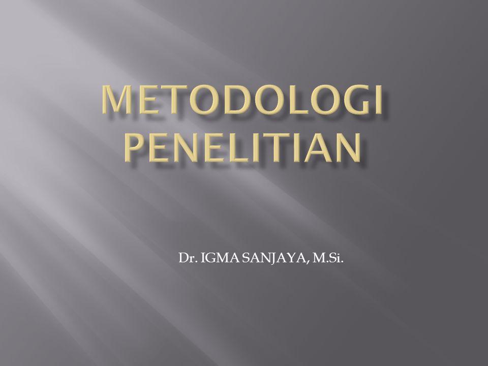 Dr. IGMA SANJAYA, M.Si.