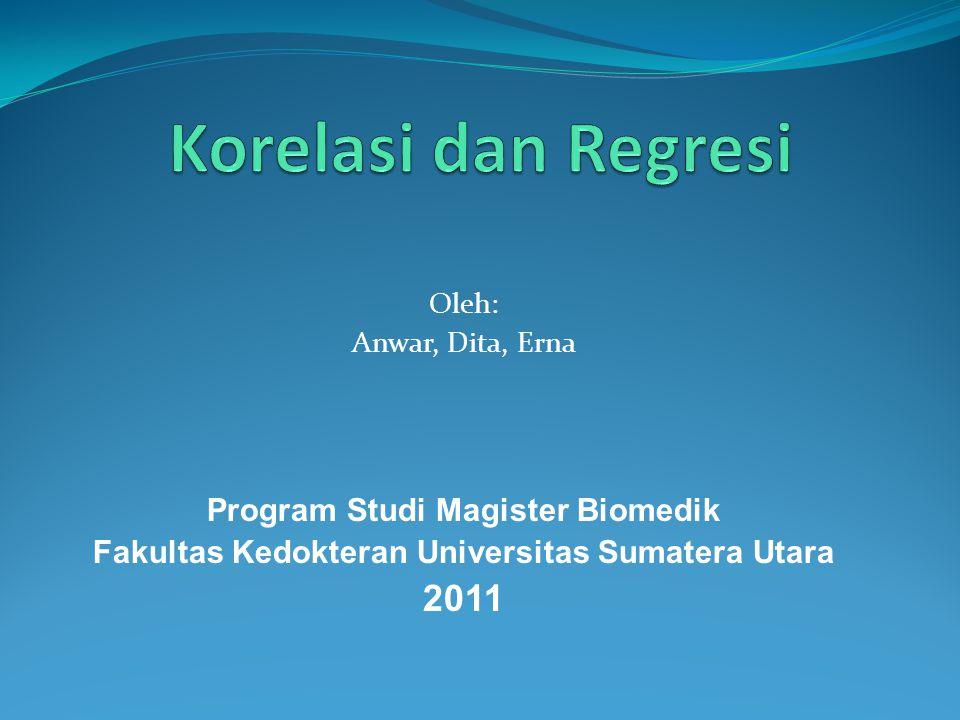 Oleh: Anwar, Dita, Erna Program Studi Magister Biomedik Fakultas Kedokteran Universitas Sumatera Utara 2011