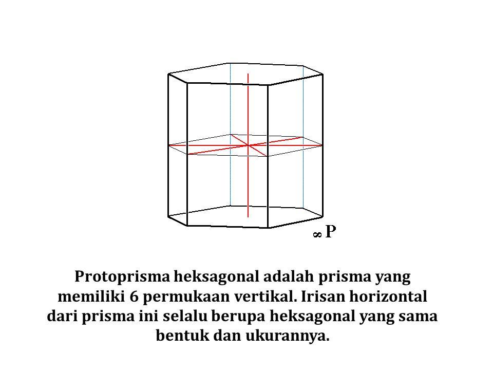 Protoprisma heksagonal adalah prisma yang memiliki 6 permukaan vertikal. Irisan horizontal dari prisma ini selalu berupa heksagonal yang sama bentuk d