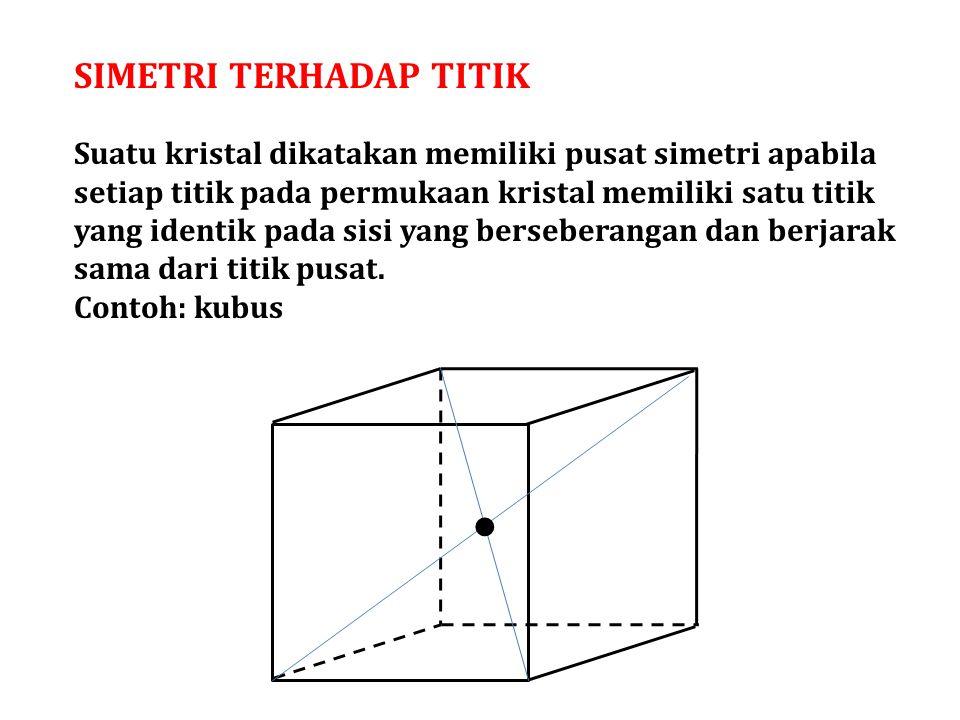 Komponen simetri: 1.Simetri titik 2.Simetri garis 3.Simetri bidang 4.Simetri gabungan 5.Tanpa simetri Komponen simetri: 1.Simetri titik 2.Simetri garis 3.Simetri bidang 4.Simetri gabungan 5.Tanpa simetri 32 kelas/group 7 sistem kristal 1.Regular (5 kelas) 2.Tetragonal (7 kelas) 3.Orthorhombic (3 kelas) 4.Monoclinic (3 kelas) 5.Triclinic (2 kelas) 6.Trigonal (5 kelas) 7.Hexagonal (7 kelas) 1.Regular (5 kelas) 2.Tetragonal (7 kelas) 3.Orthorhombic (3 kelas) 4.Monoclinic (3 kelas) 5.Triclinic (2 kelas) 6.Trigonal (5 kelas) 7.Hexagonal (7 kelas)