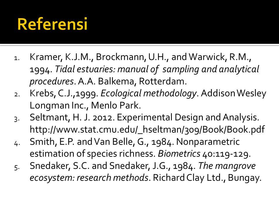 1.Kramer, K.J.M., Brockmann, U.H., and Warwick, R.M., 1994.