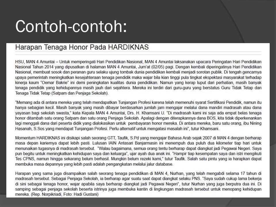 Catatan:  HARDIKNAS --> Hardiknas  Perlu keseragaman caption berita, misal HSU  Amuntai.