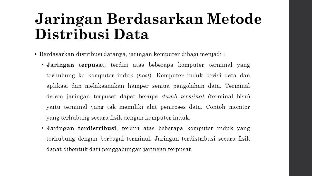 Metropolitan Area Network (MAN) Bisa dikatakan versi LAN yang berukuran lebih besar dan teknologinya sama dengan LAN.