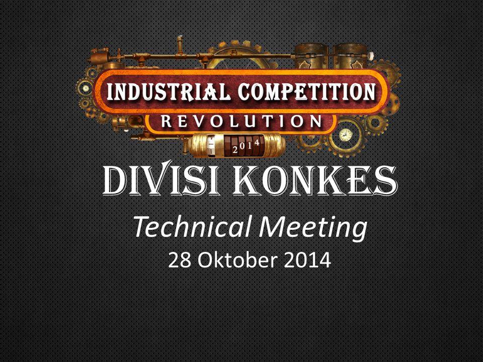 DIVISI konkes Technical Meeting 28 Oktober 2014